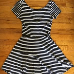 Abercrombie & Fitch Stripe A-Line Dress